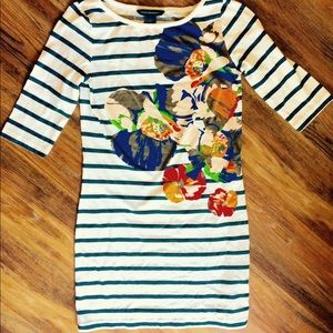 - French Connection - Geo-floral T-shirt Dress